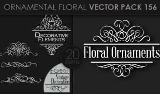 Ornamental Floral Vector Pack 156 Floral [tag]