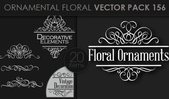 Ornamental Floral Vector Pack 156 products designious vector ornamental 156 small