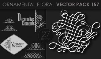 Ornamental Floral Vector Pack 157 Floral [tag]