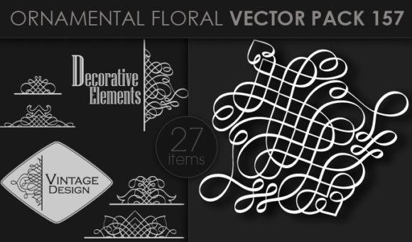 Ornamental Floral Vector Pack 157 Floral [tag]