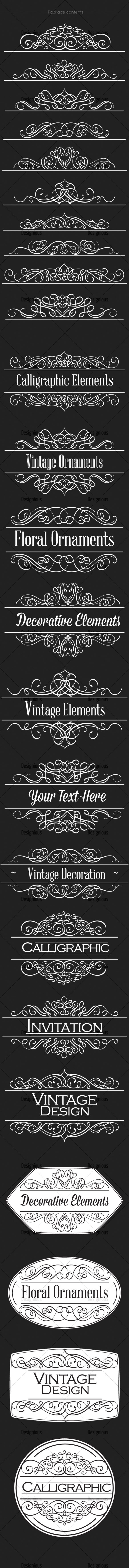 Ornamental Floral Vector Pack 158 products designious vector ornamental 158 large
