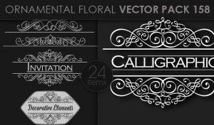Ornamental Floral Vector Pack 158 Floral [tag]