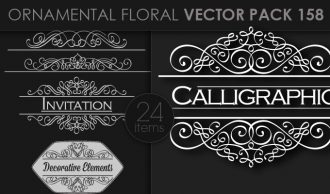Ornamental Floral Vector Pack 158 Floral [tag]