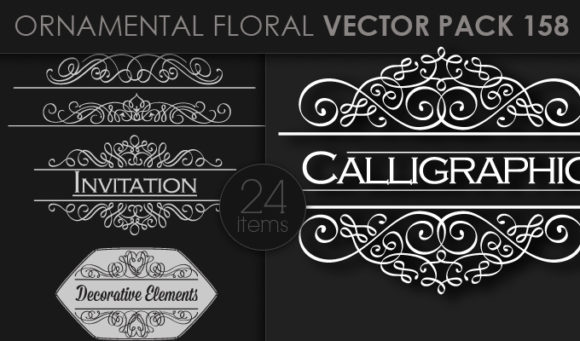 Ornamental Floral Vector Pack 158 products designious vector ornamental 158 small