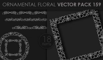 Ornamental Floral Vector Pack 159 Floral [tag]