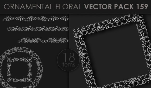 Ornamental Floral Vector Pack 159 5