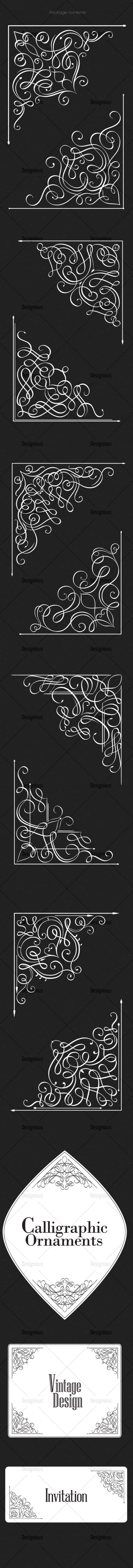 Ornamental Floral Vector Pack 160 products designious vector ornamental 160 large