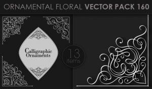 Ornamental Floral Vector Pack 160 Floral [tag]