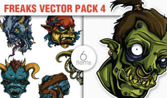 Freaks Vector Pack 4 Sport, Mascots & Cartoons [tag]