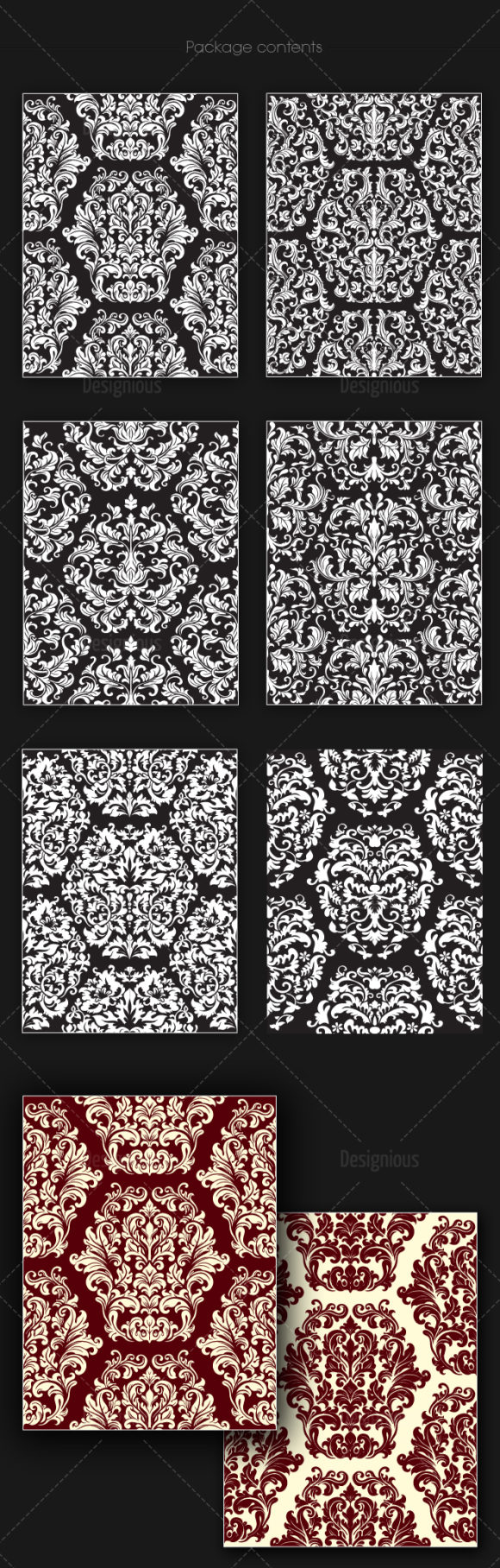 Seamless Patterns Vector Pack 144 6