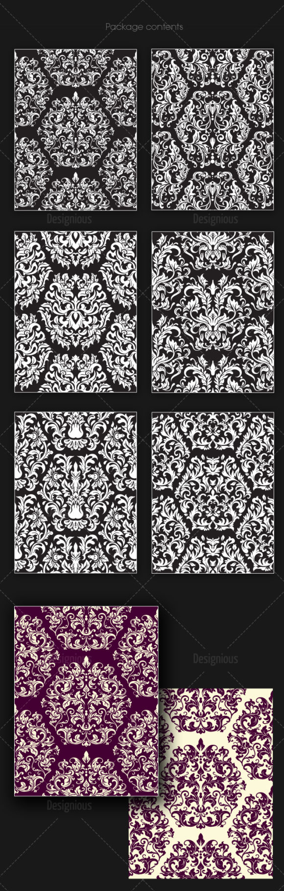 Seamless Patterns Vector Pack 148 6
