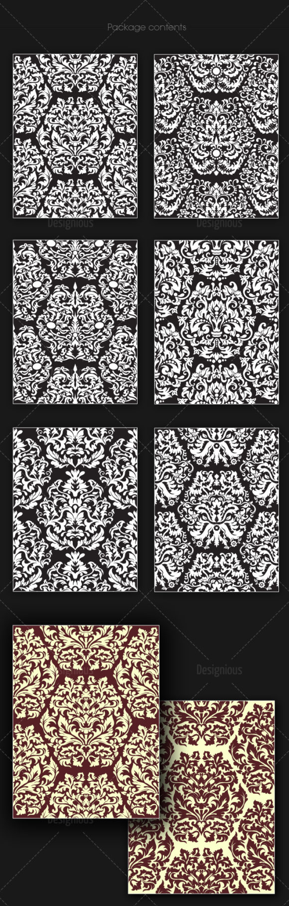 Seamless Patterns Vector Pack 150 6
