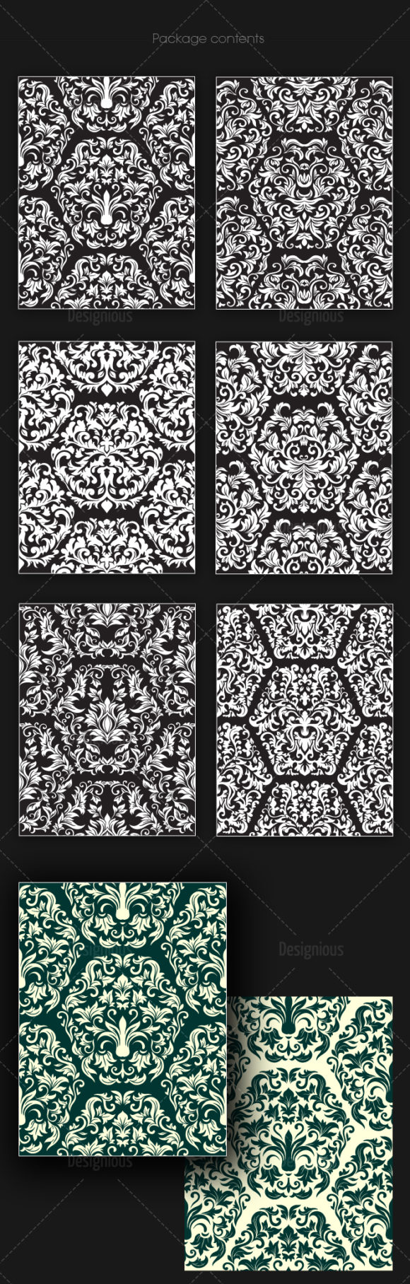 Seamless Patterns Vector Pack 151 products designious vector seamless 151 large