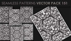 Seamless Patterns Vector Pack 151 Patterns [tag]