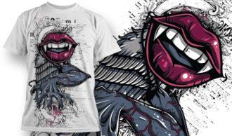 T-shirt Design 709 T-shirt Designs and Templates vector