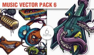 Music Vector Pack 6 Music [tag]
