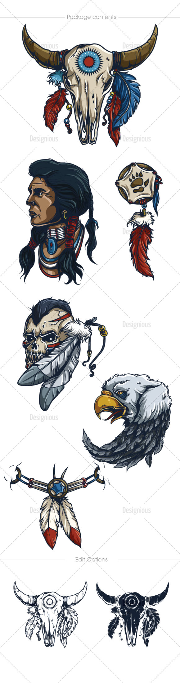 Native American Vector Pack 1 5