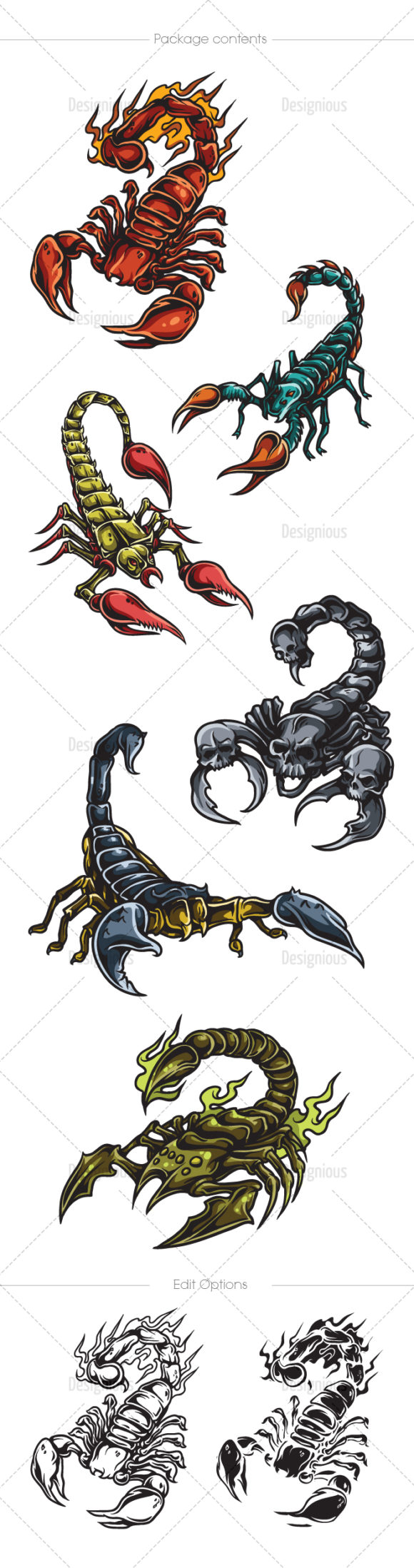 Scorpions Vector Pack 1 products designious vector scorpions 1 large