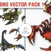 Dark Eco Vector Pack 1 products designious vector scorpions 1 small
