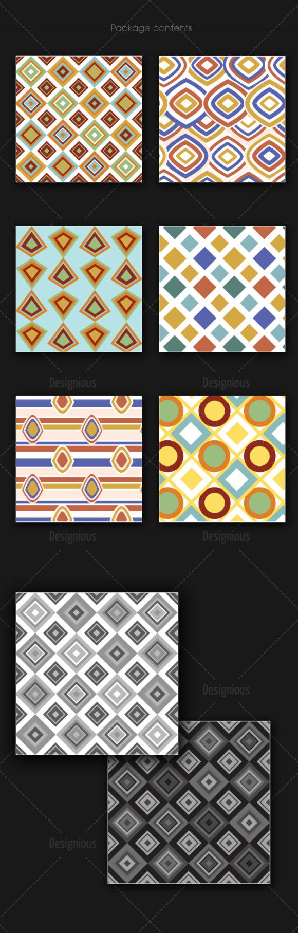 Seamless Patterns Vector Pack 155 products designious vector seamless 155 large