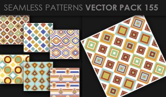 Seamless Patterns Vector Pack 155 Vector Patterns [tag]