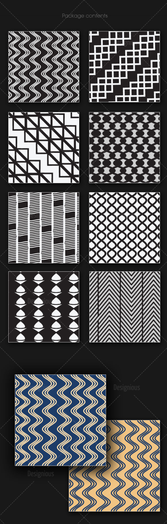 Seamless Patterns Vector Pack 158 6