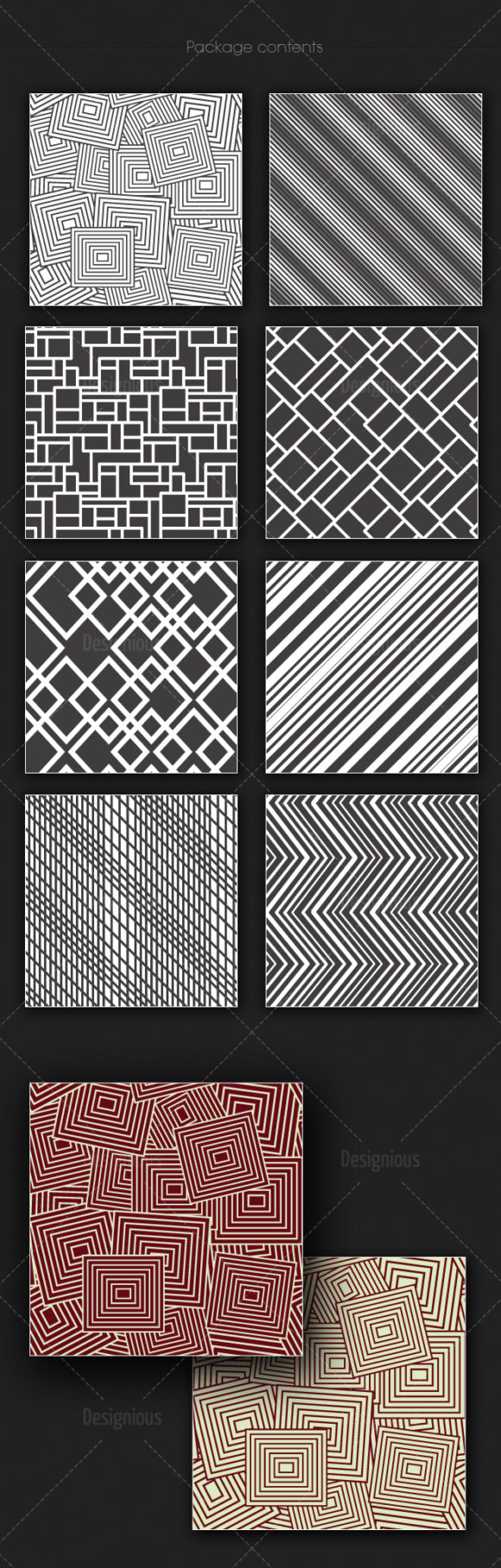 Seamless Patterns Vector Pack 162 products designious vector seamless 162 large