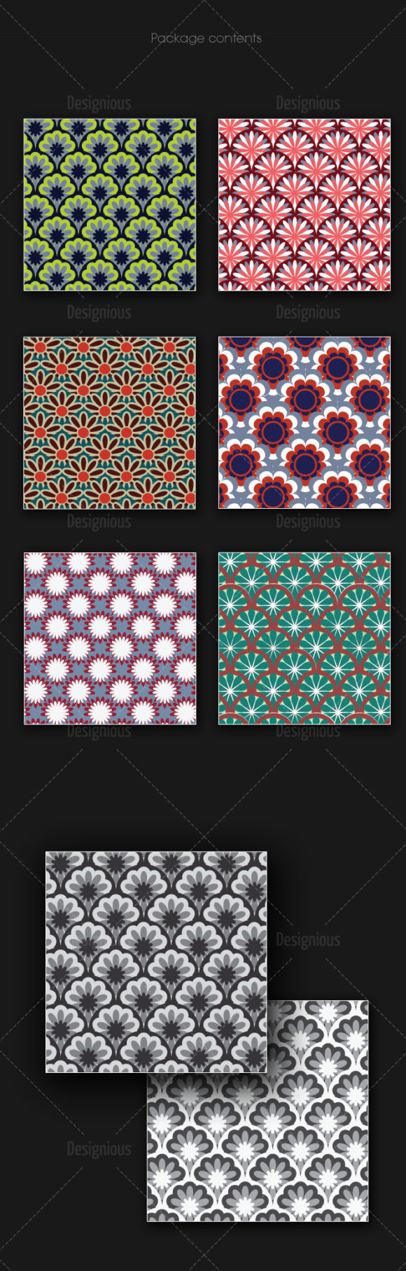 Seamless Patterns Vector Pack 164 products designious vector seamless 164 large