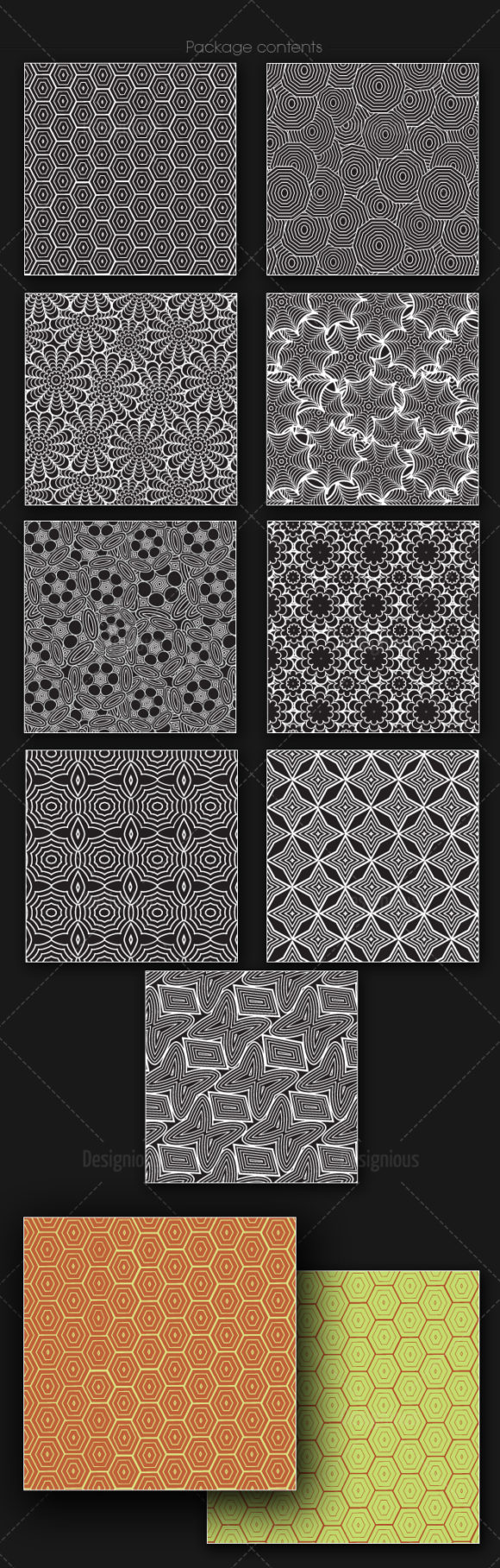 Seamless Patterns Vector Pack 165 6