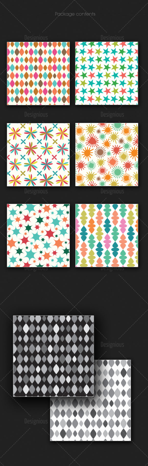Seamless Patterns Vector Pack 167 2