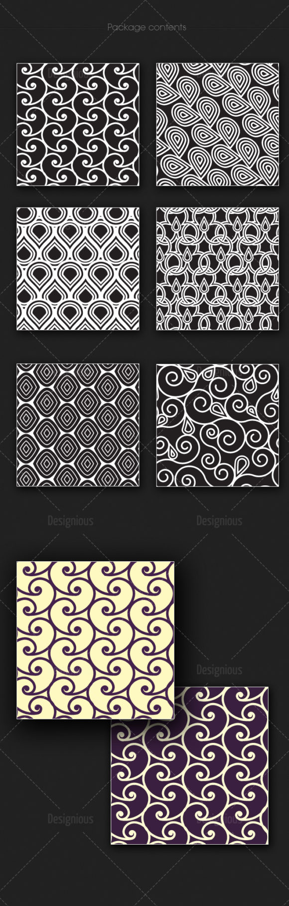 Seamless Patterns Vector Pack 173 6