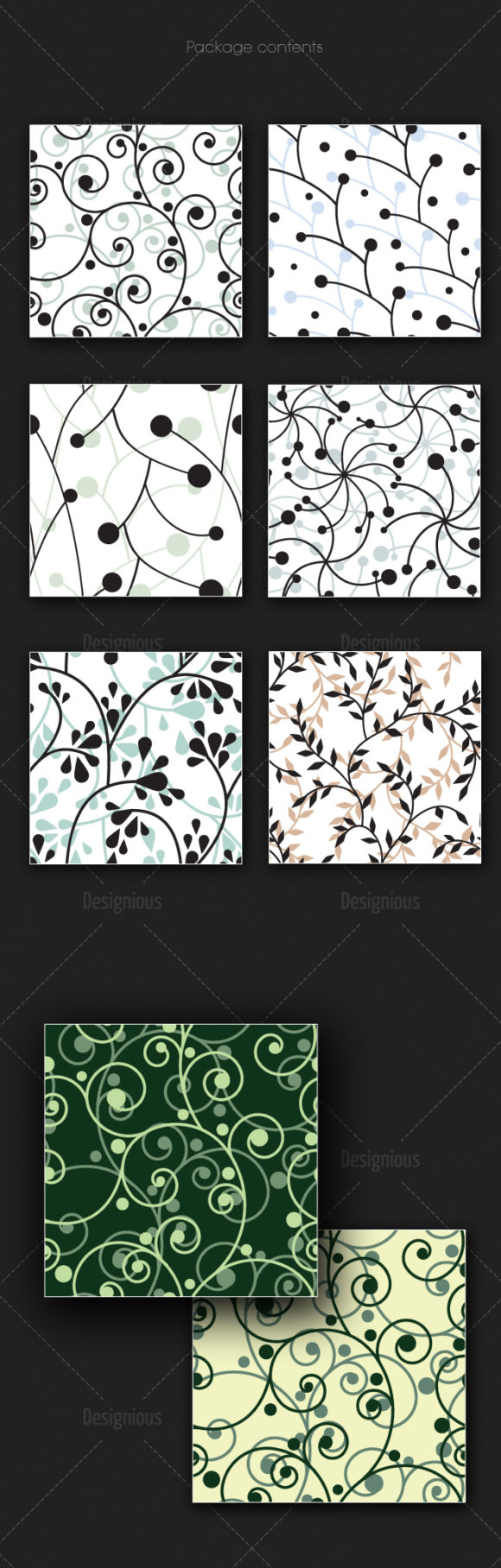 Seamless Patterns Vector Pack 176 6