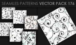 Seamless Patterns Vector Pack 176 Patterns [tag]