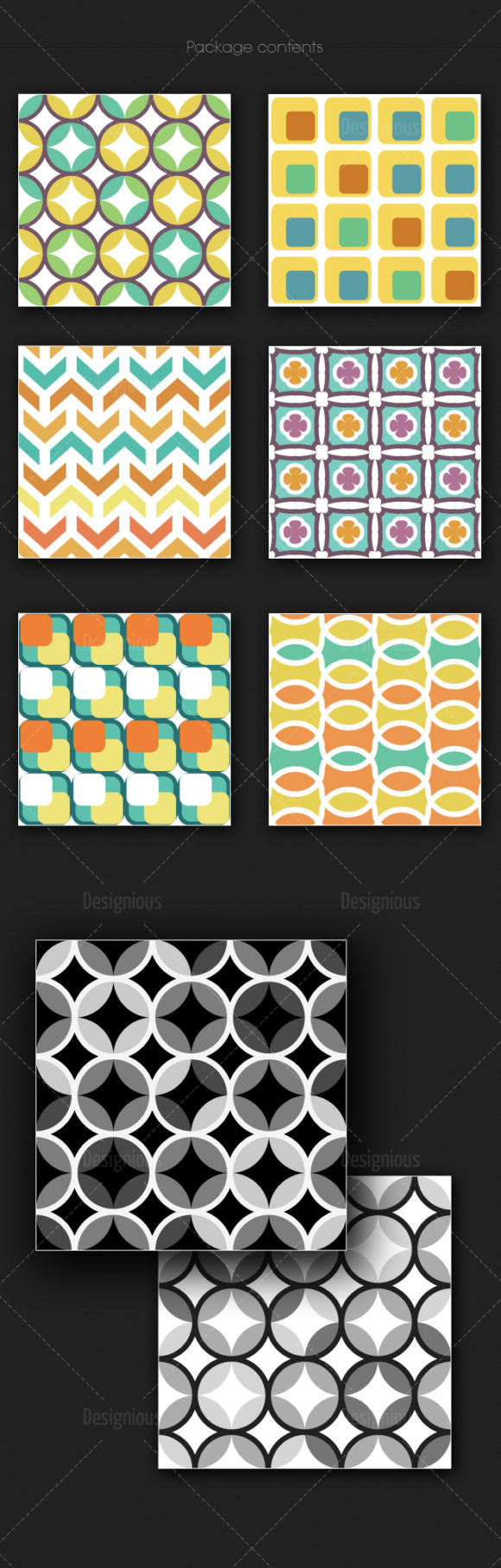 Seamless Patterns Vector Pack 178 products designious vector seamless 178 large