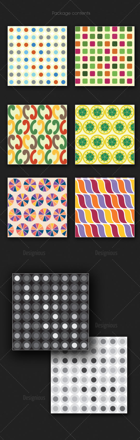 Seamless Patterns Vector Pack 181 4
