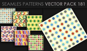 Seamless Patterns Vector Pack 181 Patterns [tag]