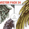 Wings Vector Pack 22 products designious vector wings 24 small