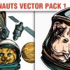 Tech shapes vector pack 6 products designious vector astronauts 1 small