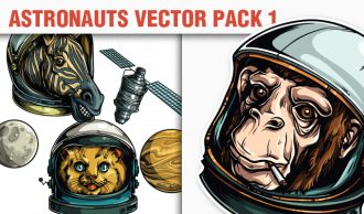 Astronauts Vector Pack 1 Tech zebra