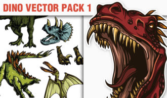 Dino Vector Pack 1 Nature [tag]
