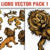 Shackled Vector Pack 2 products designious vector gothic lions 1 small