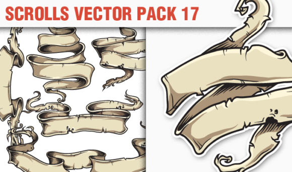 Scroll Vector Pack 17 products designious vector scrolls 17 small