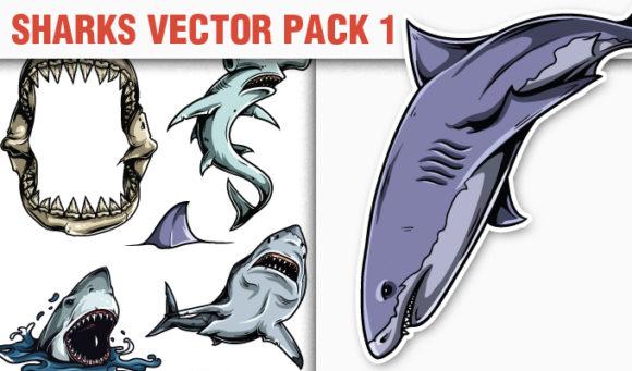 Sharks Vector Pack 1 3