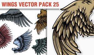 Wings Vector Pack 25 Wings [tag]
