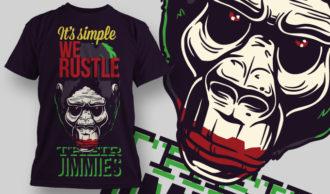 T-shirt Design 771 T-shirt Designs and Templates vector