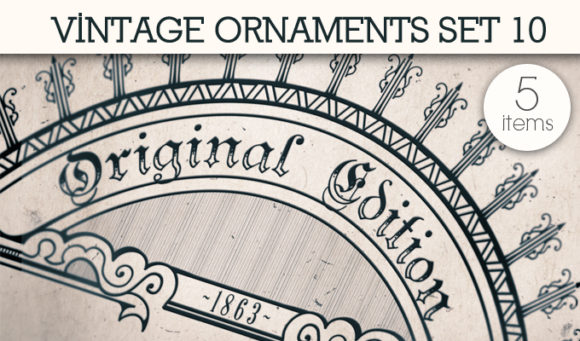Vintage Ornaments Vector Pack 10 products designious vintage ornaments 10 small