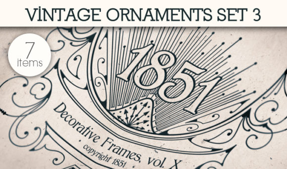 Free Vintage Ornaments Vector Pack 3 1