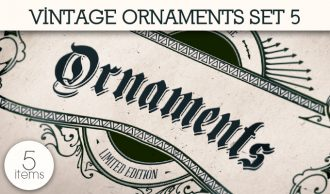 Vintage Ornaments Vector Pack 5 Floral [tag]