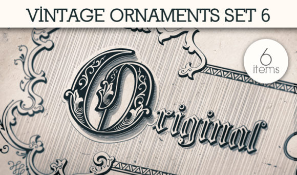 Vintage Ornaments Vector Pack 6 products designious vintage ornaments 6 small
