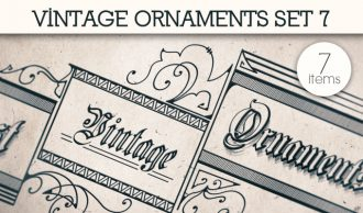Vintage Ornaments Vector Pack 7 Floral [tag]